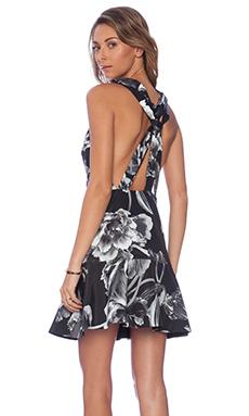 keepsake Better Off Alone Dress in Monochrome Bloom