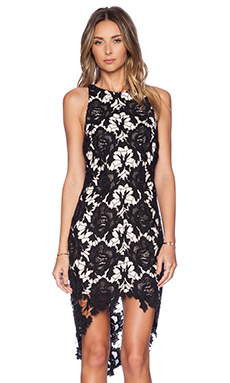 keepsake I Will Wait Dress in Black Lace
