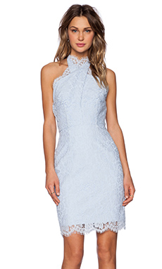keepsake High Roads Dress in Powder Blue
