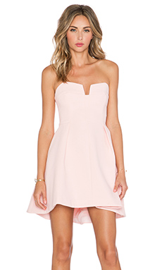 keepsake Divide Mini Dress in Blush