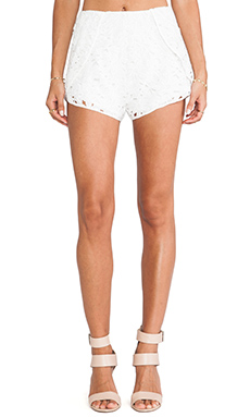 keepsake Reach for the Sun Shorts in Ivory Lace