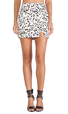 keepsake Raider Skirt in Leopard Print