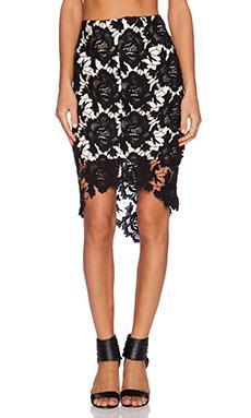 keepsake I Will Wait Skirt in Black Lace