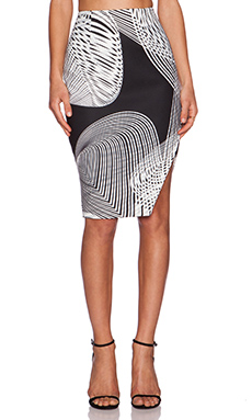 keepsake Distraction Skirt in Black Spiral