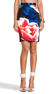 keepsake Already Home Skirt in Navy Rose Print
