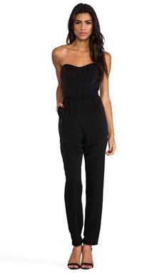 keepsake Playing With Fire Pantsuit in Black