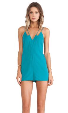 keepsake Skinny Love Playsuit in Emerald
