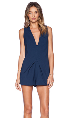 keepsake Steal The Light Playsuit in Midnight