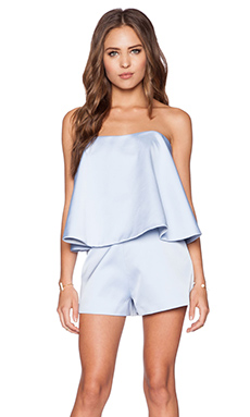 keepsake Night After Night Playsuit in Powder Blue