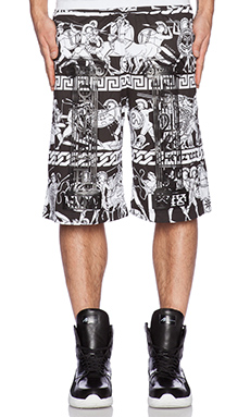 KTZ Shorts in Black & White Print