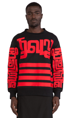 KTZ Sweatshirt in Black/Red