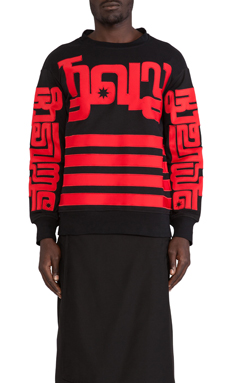 KTZ Sweatshirt in Black/Red