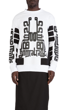 KTZ Stripe Sweatshirt I in White/Black