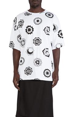 KTZ Cakra Logo Print Tee in White/Black