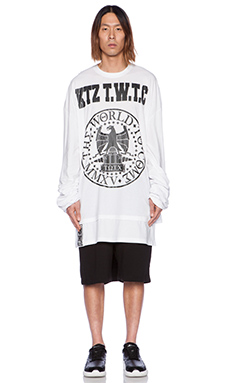 KTZ Graphic Tee in White & Black