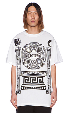 KTZ Graphic Tee in White/Black Print