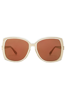Karen Walker Annie in Gold with Brown Mono Gold Mirror
