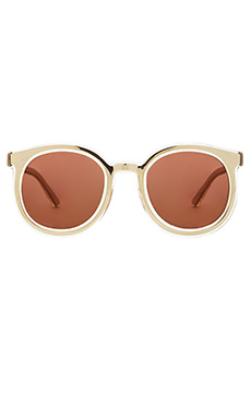 Karen Walker Super Duper Strength in Gold with Brown Mono Gold Mirror