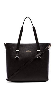 Benah by Karen Walker Veronica Shopper in Black & Ivory