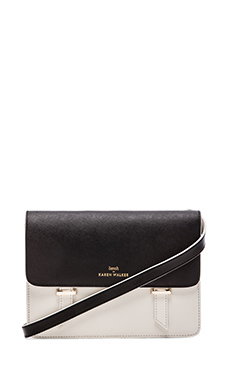 Benah by Karen Walker Sloane Satchel in Black & Ivory