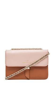 Benah by Karen Walker Juliet Mini Chain Bag in Tan & Blush
