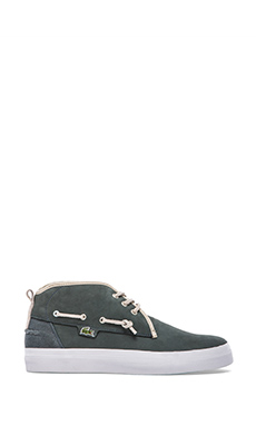 Lacoste Croxton CS in Dark Green & Natural