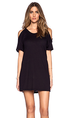LACAUSA Bear T Dress in Tar