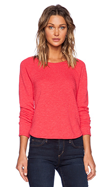 LACAUSA Felpa Pullover Sweatshirt in Stoplight