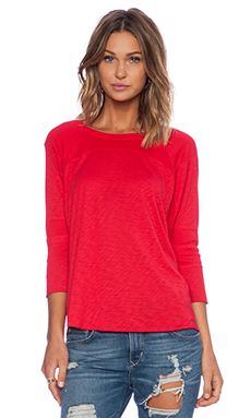 LACAUSA Relay Long Sleeve Tee in Stoplight