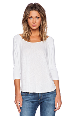 LACAUSA Raglan Top in Lighthouse