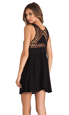 Ladakh Seaside Macrame Dress in Black