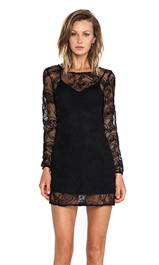 Ladakh Cornelli Lace Dress in Black