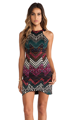 Ladakh Illusionist Dress in Pink Multi