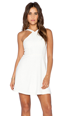 Ladakh Strappy Skater Dress in Ivory