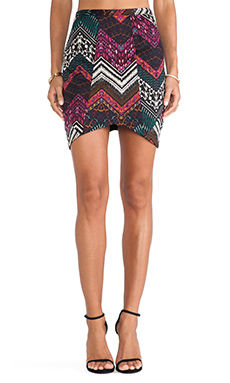 Ladakh Illusionist Skirt in Pink Multi