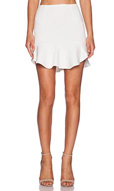 Ladakh Undivided Neoprene Skirt in White