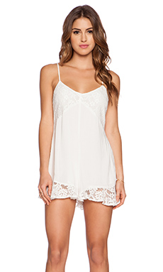 Ladakh One Love Playsuit in White