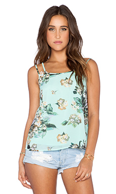 Ladakh Fresh Floral Top in Turquoise