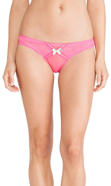 L'Agent by Agent Provocateur Dorotia Mini Brief in Fuchsia & Neon Apple
