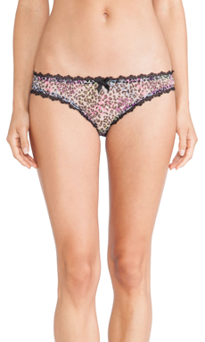 L'Agent by Agent Provocateur Rubi Non Mini Brief in Baby Pink Multi
