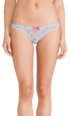 L'Agent by Agent Provocateur Tabita Thong in Turquoise & Fuchsia