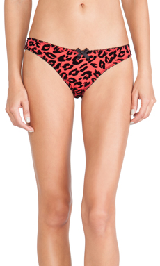 L'Agent by Agent Provocateur Lucila Mini Brief in Valentino Red & Black