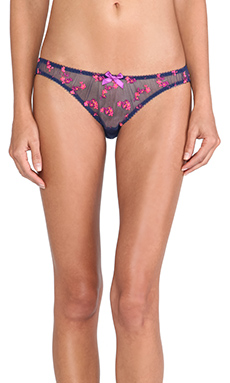 L'Agent by Agent Provocateur Clementina Mini Brief in French Navy Multi