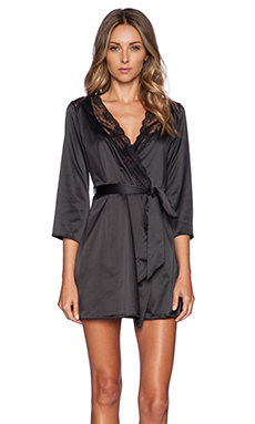 L'Agent by Agent Provocateur Marisela Short Gown in Black