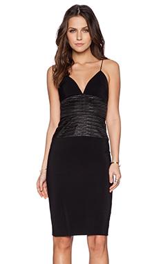 L'AGENCE Midi Dress in Black
