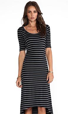 LA Made Stripe Dress in Black Stripe