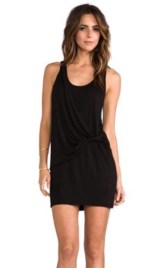 LA Made Wrap Tank Dress in Black