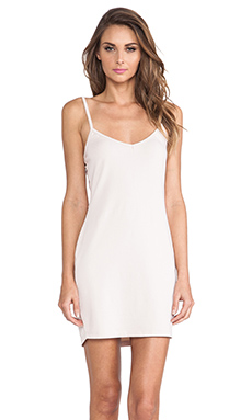 LA Made V Neck Dress in Seed Pearl