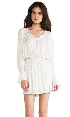 LA Made Peasant Dress in Off White