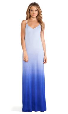 LA Made Across Strapped Maxi Dress in White Scuba